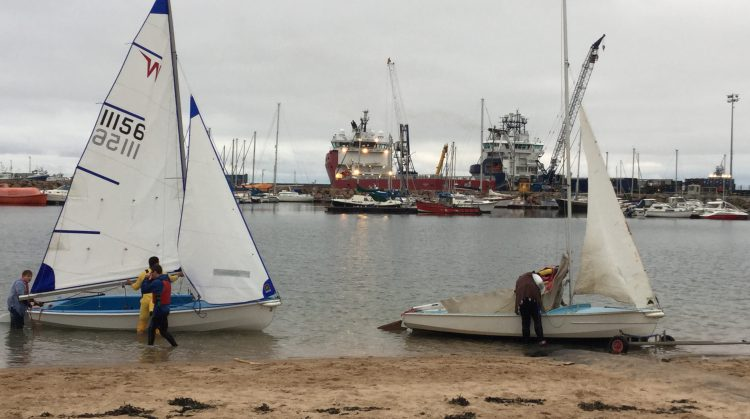 Picture of sailing boats along the beach