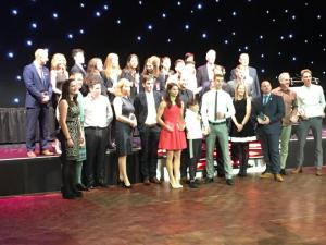 Award Winners Standing Together at the 2017 Aberdeen Sports Awards